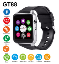 GT88 Bluetooth Smart Watch Waterproof Heart Rate Sleep Monitor Support TF/SIM Card Smartwatch for iPhone 5s 6s 7 for Samsung S7 цена