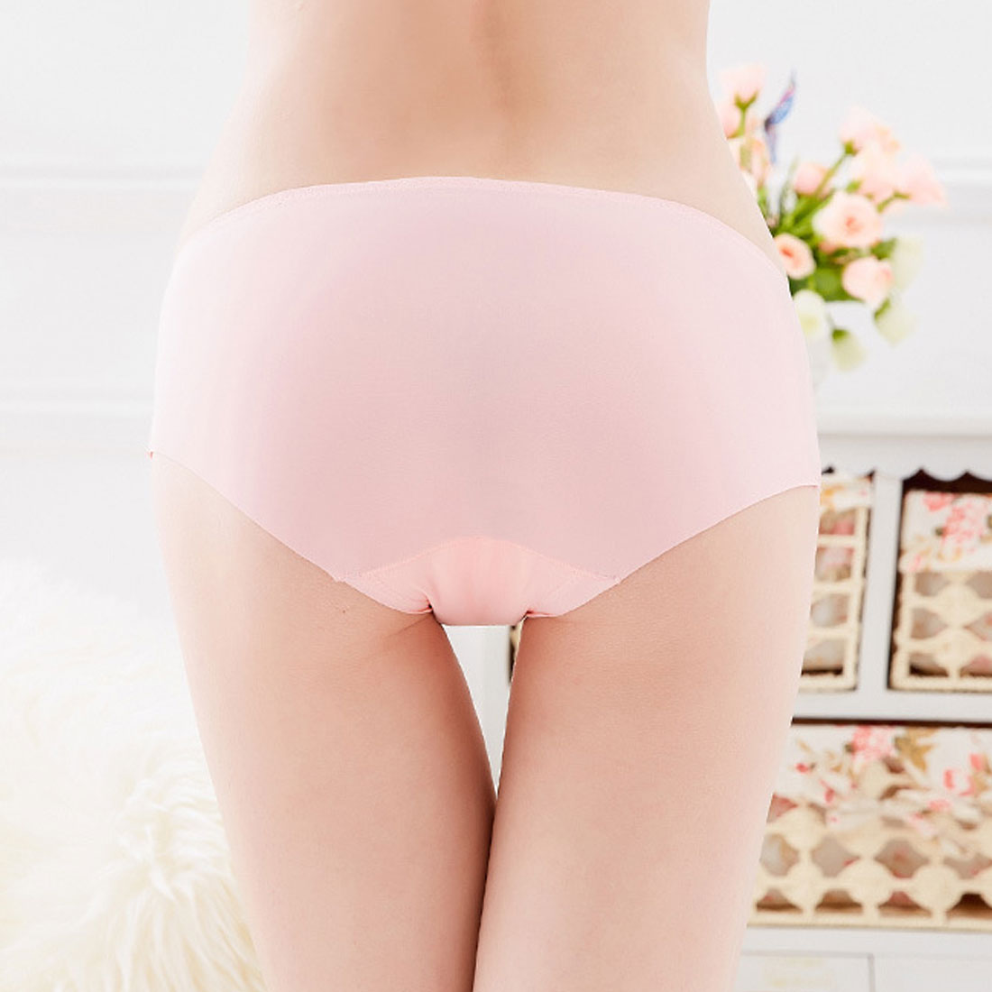 Hot Sale Women Big Size  Panty Solid High Waist Underwear Panties Soft Viscose Lingerie Briefs
