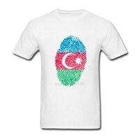 Azerbaijan Flag Fingerprint O Neck Blouse Camiseta Mens Low Price Short Sleeve Tee Shirt Homme Trendy