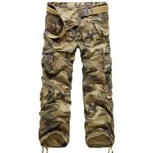 Новые Брендовые брюки карго, мужские военные прямые брюки, мужские повседневные хлопковые камуфляжные брюки с несколькими карманами, мужские брюки для бега в стиле хип-хоп, длинные брюки