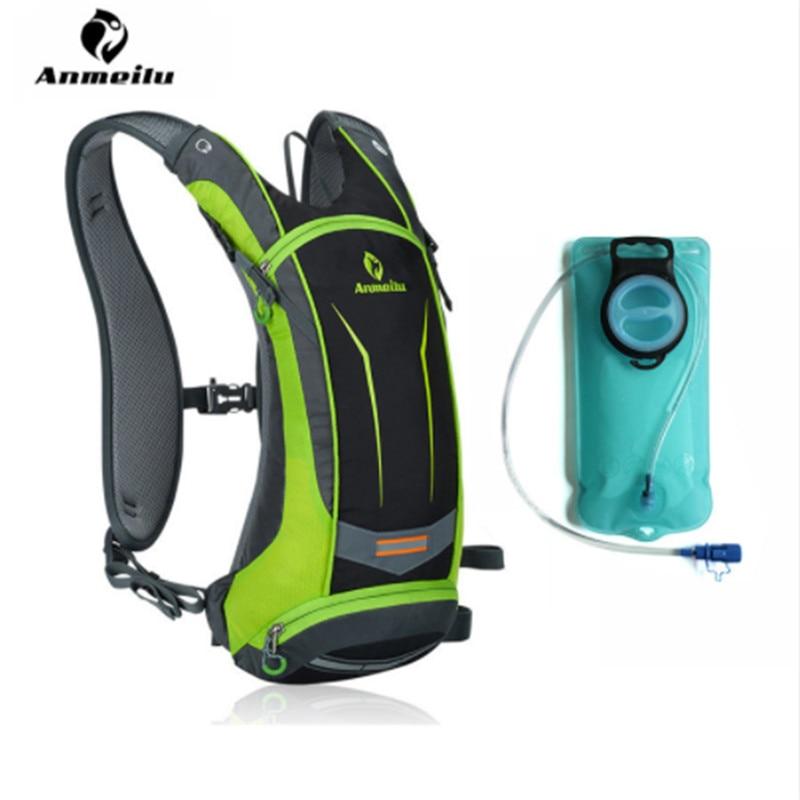 ANMEILU Sports Water Bag Waterproof <font><b>Cycling</b></font> Bicycle Bike Backpack Men Women Climbing Camping Hiking Rucksack Hydration Bags 8L