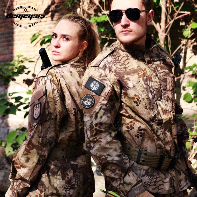Ensemble tactique de costume de Camouflage numérique boisé uniforme militaire de Combat uniforme Airsoft chemise + pantalon - 5
