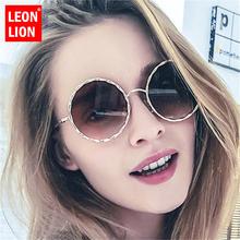 Солнечные очки leonlion в металлической оправе женские круглые