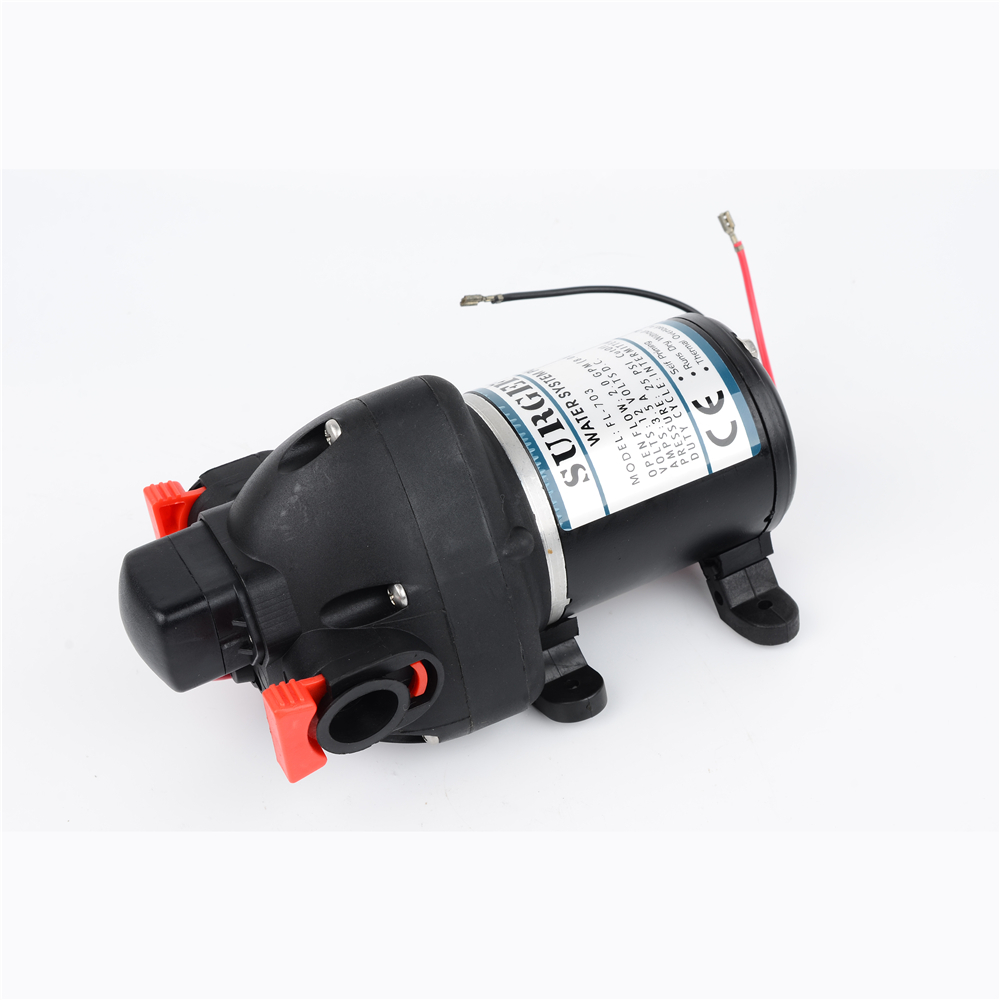 цены 12V 24V DC Lift Max 30m High Pressure Mini Electric Water Pump  Automatic Diaphragm Pump Car Yachts Use FL-703 FL-706