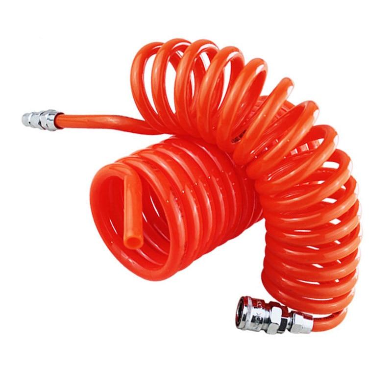 Free Shipping 12M 15M 29.5 Ft 8mm x 5mm Flexib PU Recoil Hose Polyurethane PU Air Compressor Hose Tube for Compressor Air Tool 6m 19 ft 10mm x 6 5mm polyurethane pu recoil air hose tube orangered