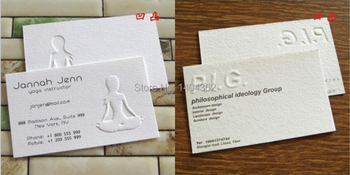 Free Shipping Custom 500pcs Specialty Paper - 320g  Shell Paper Concave convex Business Cards Business Card Printing