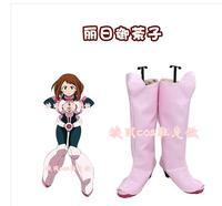 My Hero Academia Boku no Hero Academia OCHACO URARAKA Cosplay Boots Pink High Heel Shoes Custom Made