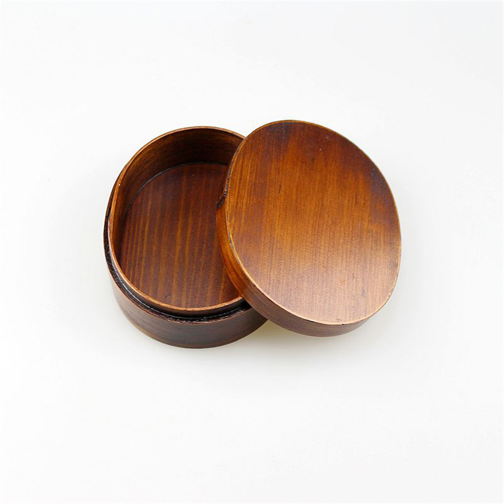 Japanese Oval Shape Wood Table Storage Box with Cover Classical Desk Storage Box Sushi Fruit Candy Food Sundries Organizer Boxes