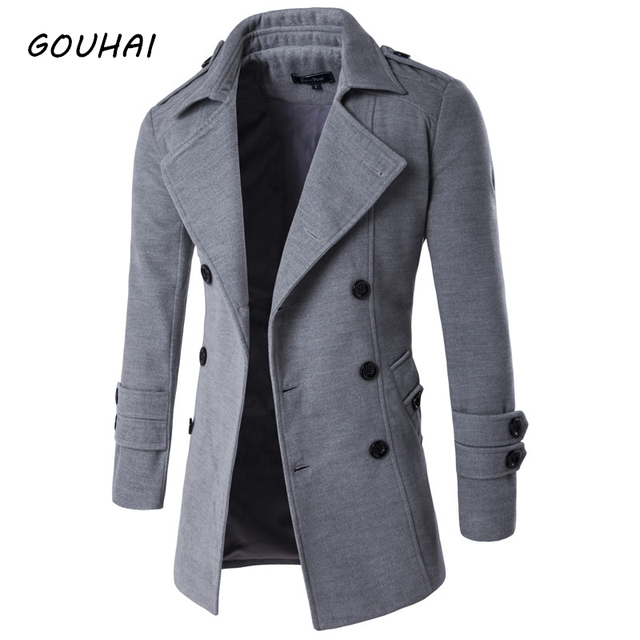 2018 Autumn Winter Jacket Men Peacoat Mens Jackets And Coats Male ...