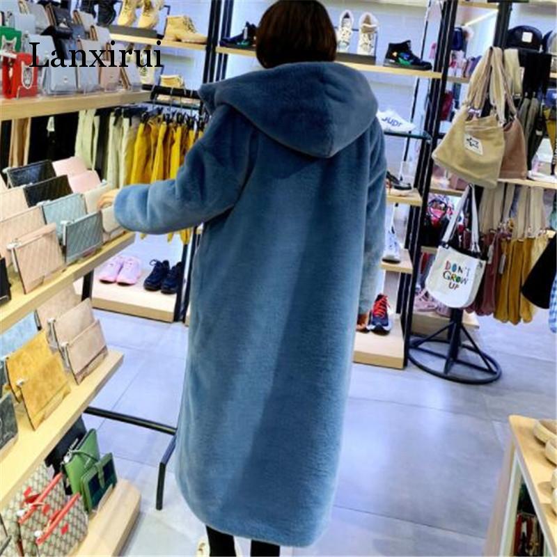 Long vêtements manteau vison