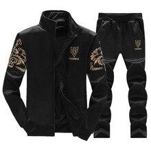 Naujos mados prakaito kostiumai vyrams Spausdinimo modelis Zipper kardiganas Vyriški sportiniai drabužiai su pilnu rankoviu iš poliesterio atsitiktiniai karoliukai
