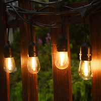 10M 10LED Waterproof Commercial Outdoor LED Bulb String Lights E27 Filament Bulb Street Garden Patio Backyard Holiday Lighting