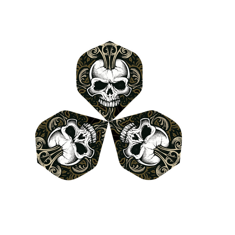 30PCS  Professional Darts Flights Wing For Soft Steel Darts Wing Tail With Skull Pattern