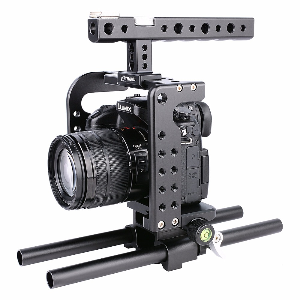 YELANGU YLG0906A Camera Video Cage Handle Stabilizer for Panasonic Lumix DMC-GH5