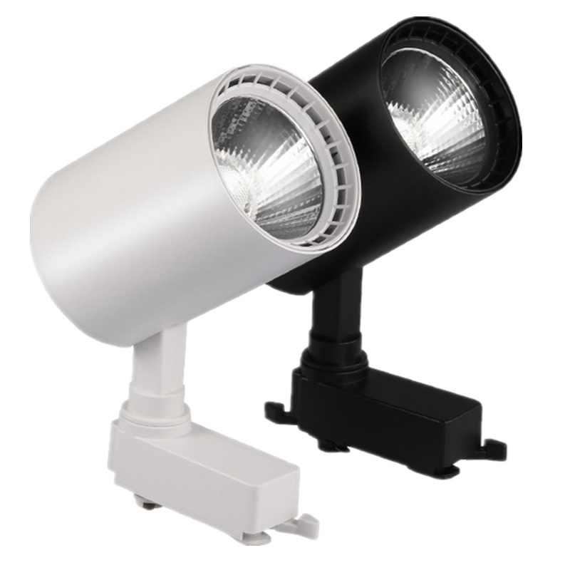 12 Вт 20 Вт 30 Вт COB лампа, крепление к рейке прожекторы Светодиодный Алюминиевый трек лампа светильник Точечные светильники отражатели для магазина одежды