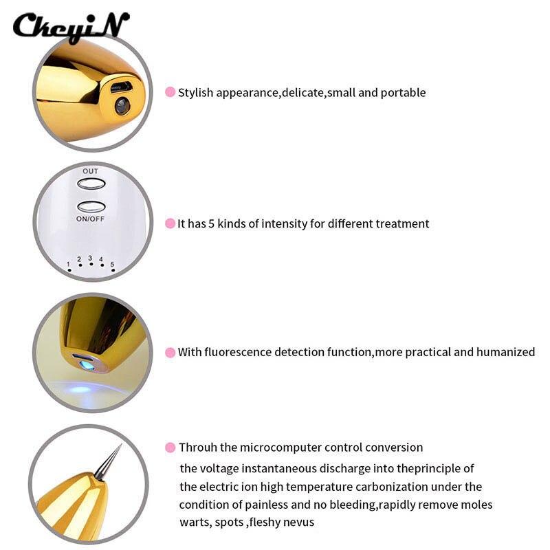 2017 Portable Laser Mole Removal Tool Wart Dark Spot Freckle Remover