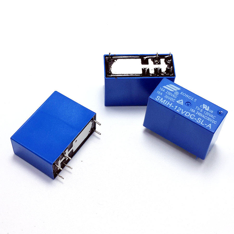 Hot Sale 6 Pin 12v 16a Dc Sealed Relay Feet Songle Brand One Normally Open Vs Closed Group Of Normal Contacts 5 Pieces Per Lot
