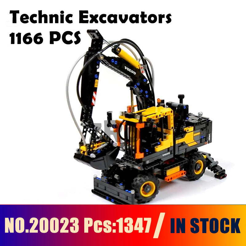Compatible With Lego 42053 20023 Technic Excavators Building Blocks Volvo Ew160e Bricks Model Kids DIY Educational Toys
