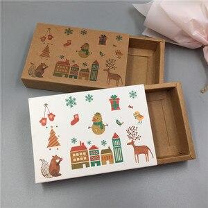 Image 5 - 새로운 핫 크래프트 종이 골판지 서랍 일치 포장 상자 웨딩 파티 사탕 상자 사랑 크리스마스 수제 선물 상자