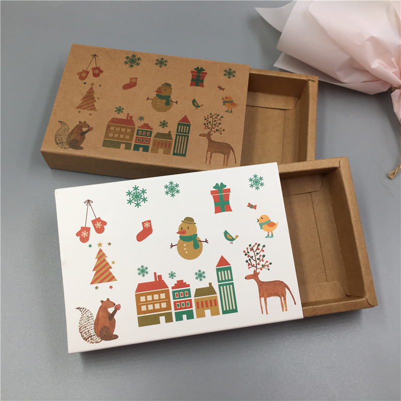 Image 5 - New Hot Kraft Paper Cardboard Drawer Matches Packing Boxes Wedding Party Candy Box Love Christmas Handmade Gifts Boxes-in Gift Bags & Wrapping Supplies from Home & Garden