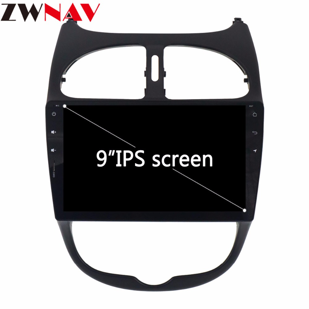 IPS 9 Inch Android 8.0 Radio Car multimedia player unit For <font><b>Peugeot</b></font> <font><b>206</b></font> 2000-2016 car radio stereo gps navigation no DVD Player image