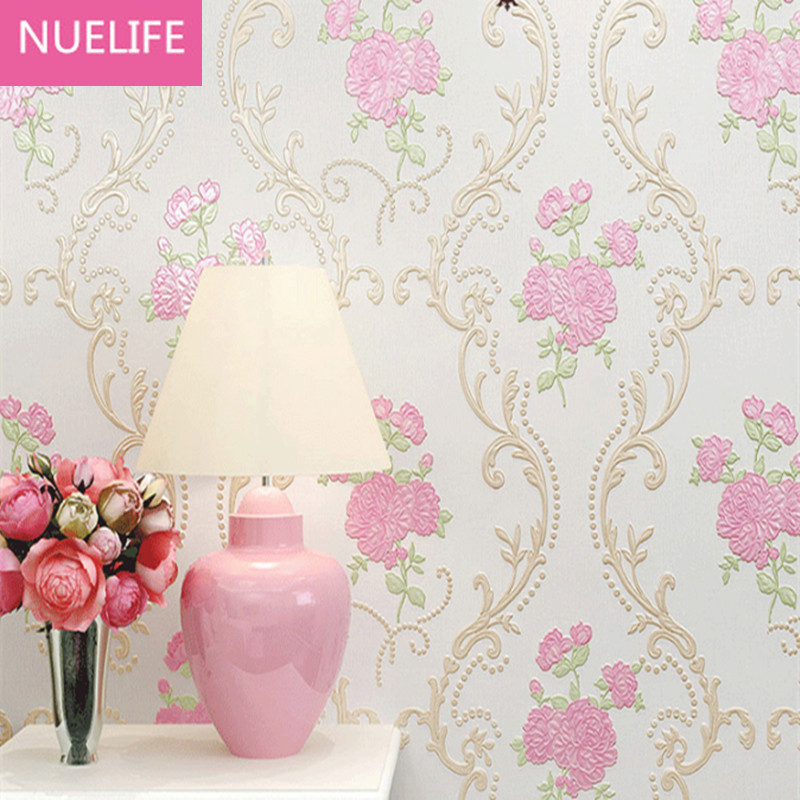 0.53x10m  Pastoral pattern Non - woven wallpaper bedroom wedding room living room bedside kids house decoration 3D wallpaper 0 53x10m modern blue gray green simple non woven wallpaper living room bedroom wedding room shop decoration wallpaper