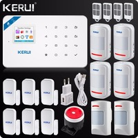 Kerui W18 Wireless Wifi GSM Alarm IOS Android APP Control LCD GSM SMS Home Burglar Alarm System Pet Immune Movement Pet Motion