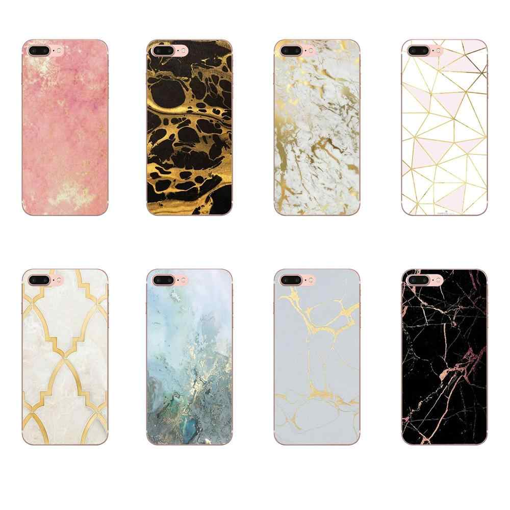 White Black Gold Marble Soft TPU Pattern For Moto G G2 G3 G4 G5 G6 G7 HTC 530 626 628 630 816 820 One A9 M7 M8 M9 M10 E9 U11