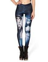 Hot Autumn Custom Lddies Fitness CORPSE BRIDE LEGGINGS Digital Printed Milk Vintage Plus Size Pants For