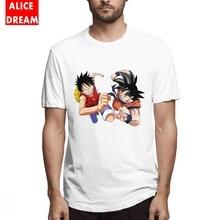 Men's O-neck Dragon ball t shirt Fashionable Son Goku Tee New T-Shirt Round Neck Plus Size Homme Tee Shirt цена 2017