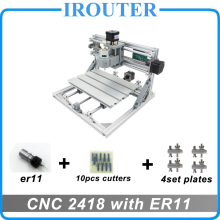 CNC 2418 with ER11, do it yourself mini cnc laser etching maker, Pcb Milling Machine, Wood Carving router, cnc2418, finest Advanced toys