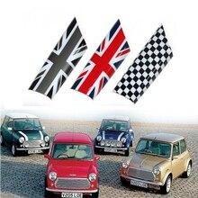 AMBERMILE 2 шт Юнион Джек автомобиля салон, дверь, подлоктоник крышка украшения Стикеры для Mini Cooper Clubman R55 R56 R57 R58 аксессуары