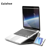 Foldable Laptop Stand For 17 Inch Laptop Tablet Phone Multifunctional Computer Holder Aluminum Alloy Lapdesk For