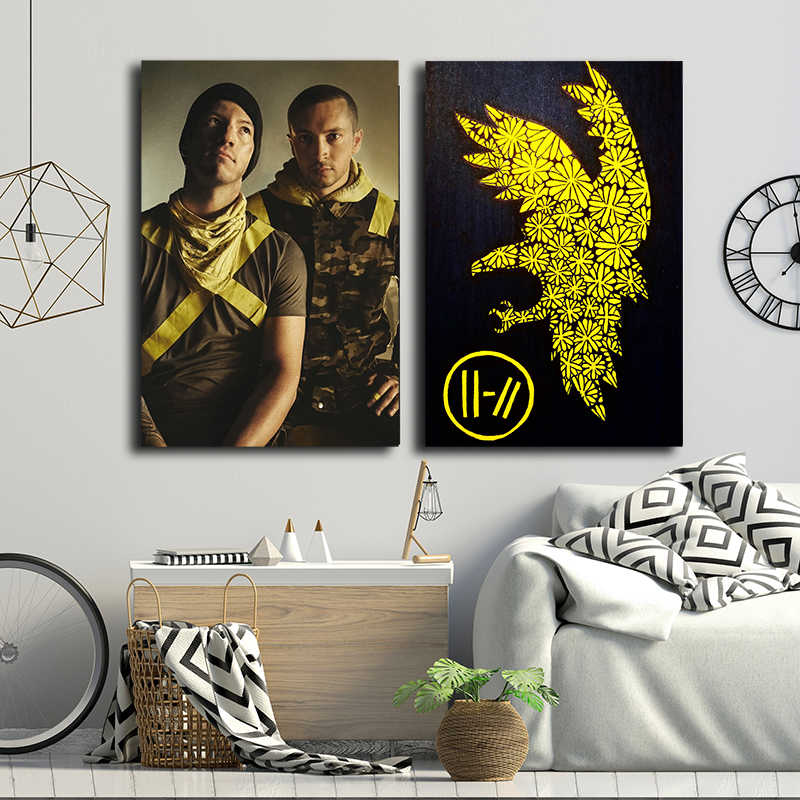 Twenty One Pilots Trench Tour Band Poster and Painting Print on Canvas HD Pictures for Living Room Home Decor Modern Wall Art