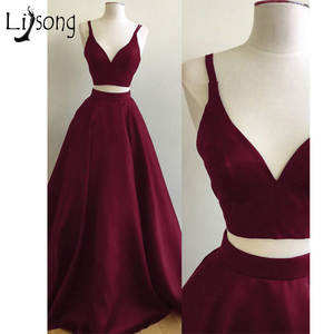 64ebce70333 Lisong 2 Pieces Gowns Short With Long Prom Dresses Party