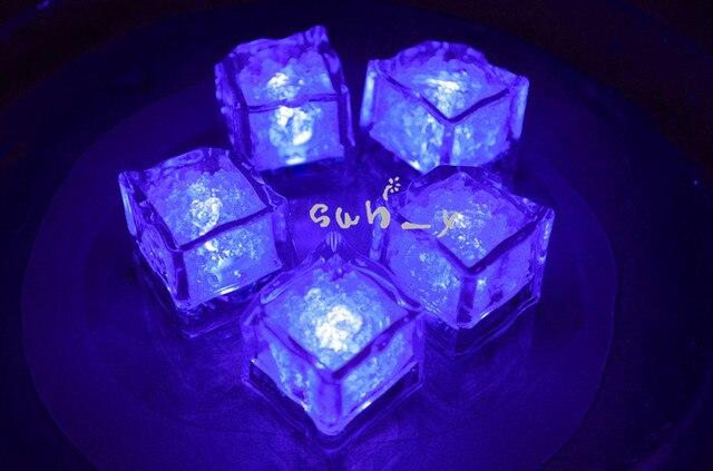 24pcs purple ice cube led light party wedding christmas decoration violet light up led ice cubes