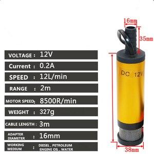 Image 2 - Draagbare Mini 12V 24V DC Elektrische Dompelpomp Voor Pompen Diesel Olie Water Aluminiumlegering Shell 12L/ min Fuel Transfer Pomp