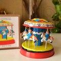 Retro Carrusel Tinwork Colección Juguetes Terminan Juguetes de Hojalata Clásicos Para Niños Artes Hechos A Mano de La Vendimia