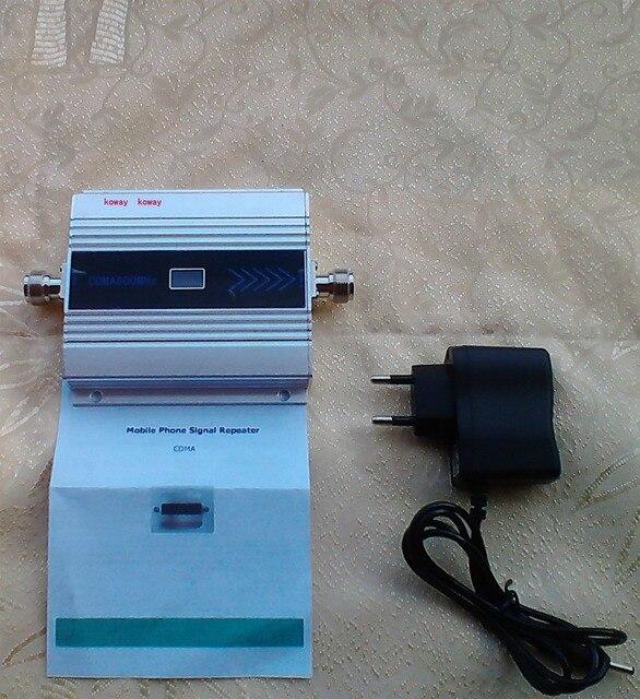 CDMA SIGNAL BOOSTER! 850 MHZ CDMA REPETIDOR de sinal de telefone celular, CDMA repetidor de sinal amplificador com poweradapter