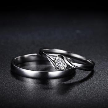 18K Gold Luxury Lover's Couple Diamond Wedding Bands 5