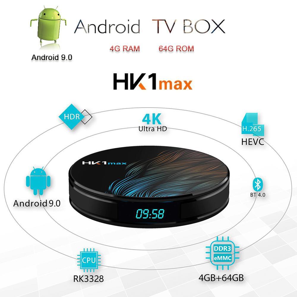 new android 9 0 tv box hk1 max 4gb 32gb 64gb rk3328 quad core smart