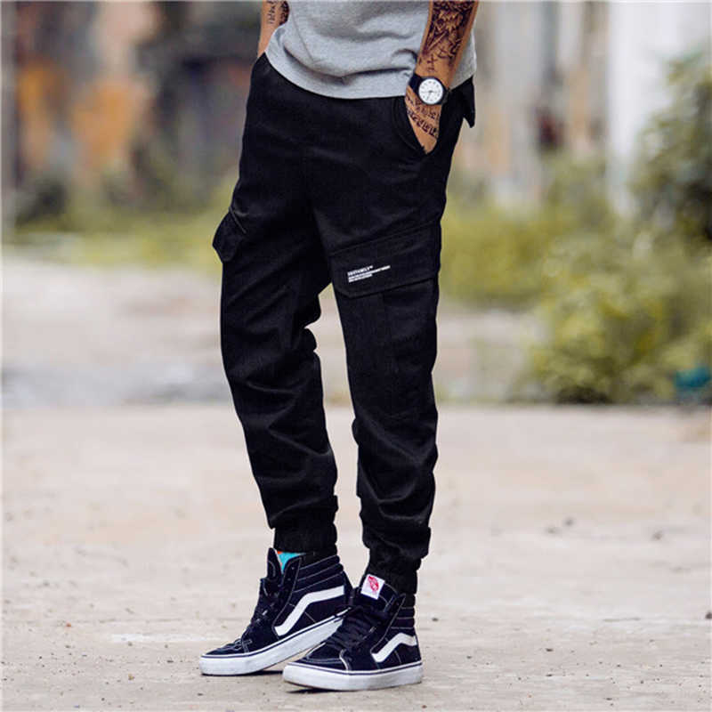 2019 Men Fashion Streetwear Pants Mens Jogger Camo Harem Pants Street Style Youth Casual Camouflage Slim Fit Ankle Trousers Male