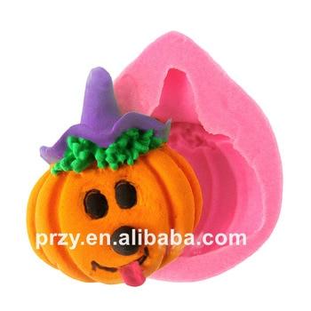 cake DIY tools Halloween pumpkin doll silicone fondant cake decoration mold cute chocolate