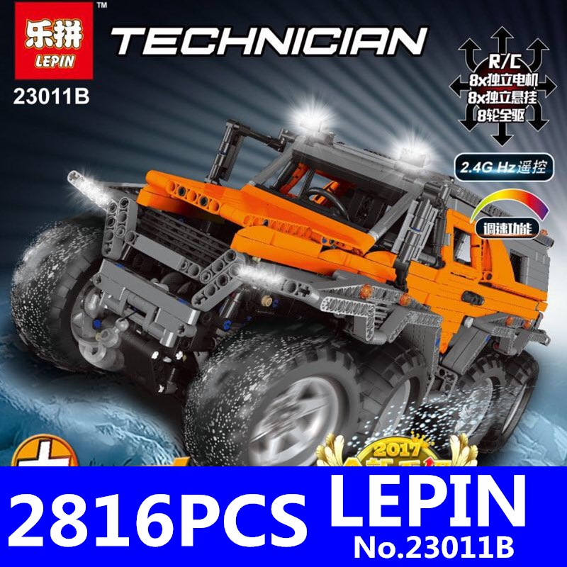 NEW LEPIN 23011B 2816Pcs Technic Series Off-Road Vehicle Model Educational Building Blocks Bricks Kits Coll Toys Compatible 5360 lepin 20032 technic series the bamw off road motorcycles r1200 gs building blocks bricks educational toys 42063