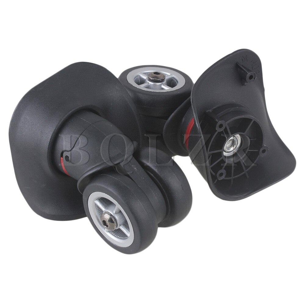 BQLZR DIY 2PCS Black 10x9.5x4.5cm Left & Right Luggage Wheels with 10 Screws Replacement