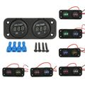 DC 12-24V Waterproof Car Motorcycle Dual LED Digital Display Voltmeter Voltage Meter
