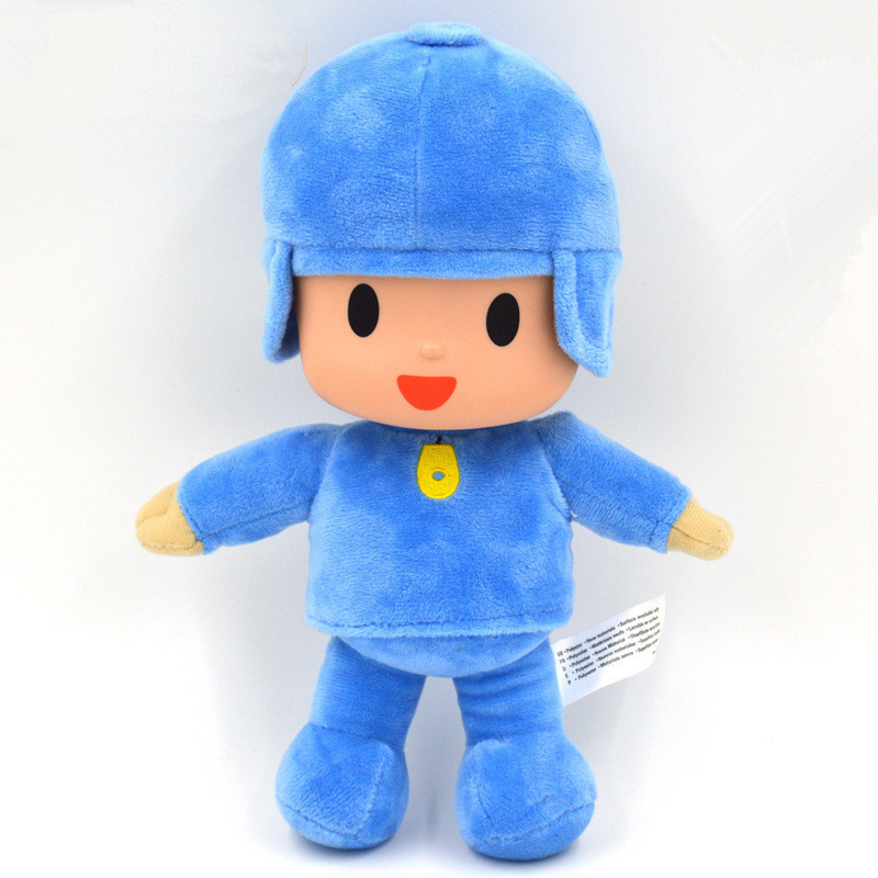 1pcs 26cm Bandai Plush Pocoyo Stuffed Plush Toys Doll Soft Figure Toy for Kids Children Christmas Birthday Gift 16cm little big planet plush toy sackboy cuddly knitted stuffed doll figure toys kids gift