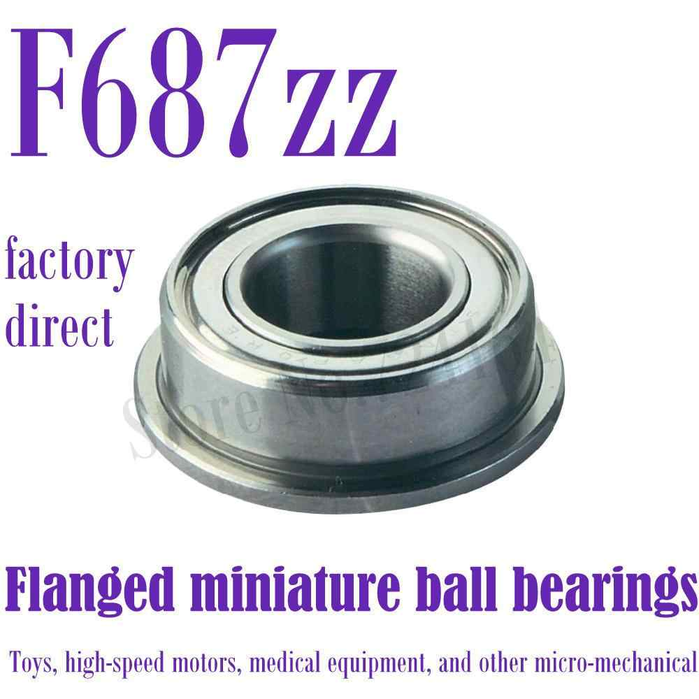 50pcs Double-shielded Miniature Ball Bearings without Flange for 3D Printer
