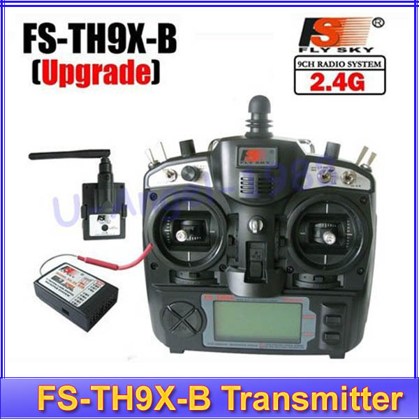 Free shipping 2.4G 9ch 9 channels system FS remtoe control rc Transmitter & Receiver Combo Flysky FS-TH9X TH9XB TX RX цена