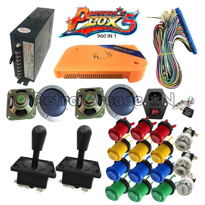 Bricolage Happ Stype Arcade armoire jeu machines kit avec Pandora boîte 5 960 en 1 PCB jamma Joystick bouton alimentation haut-parleur